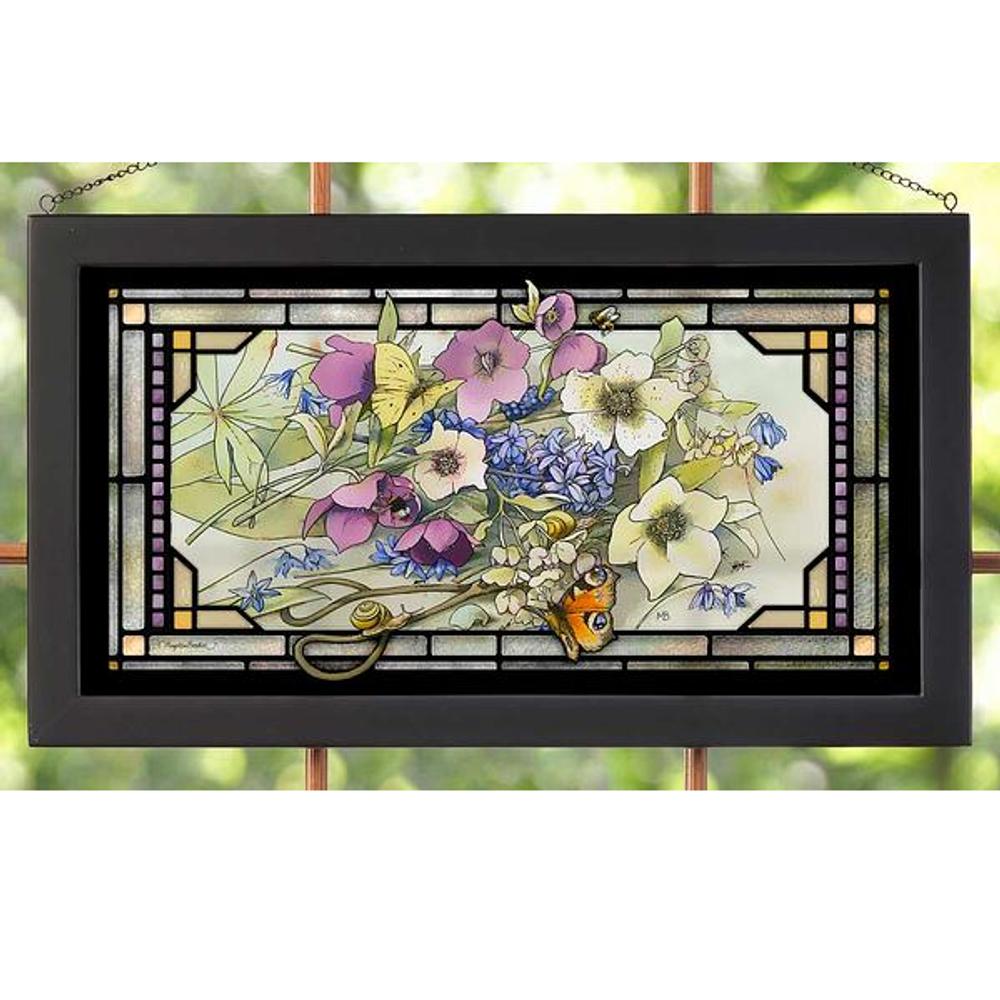 "Butterfly Stained Glass Art ""Gardner's Delight""   5386600411"