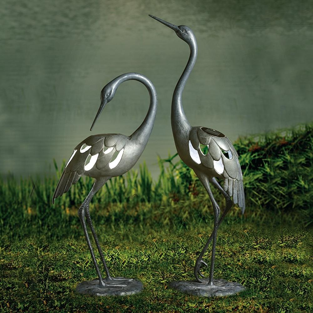 Crane Pair LED Light Garden Sculpture | 34914 | SPI Home