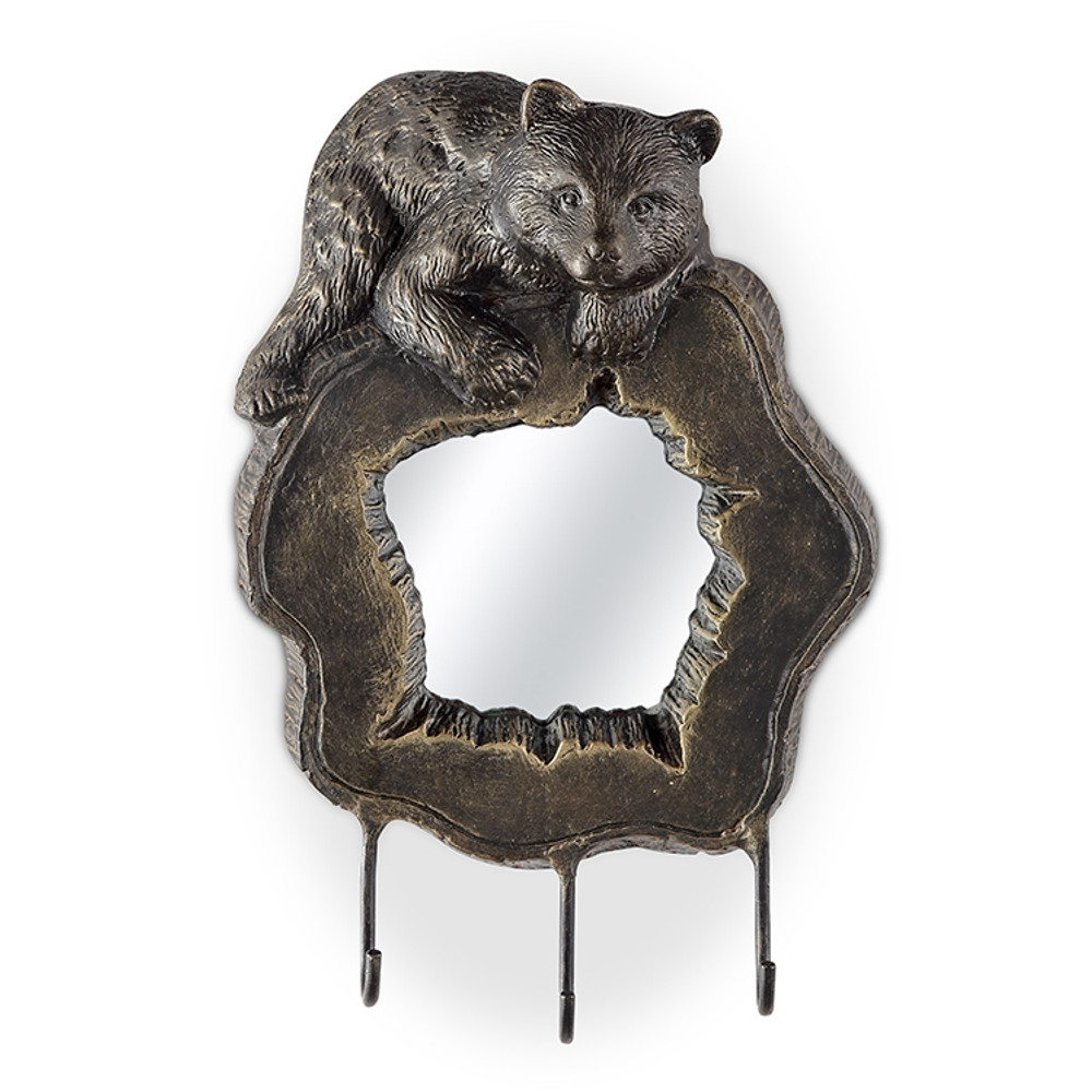 Bear Cub Wall Mirror with Hooks | 34916 | SPI Home