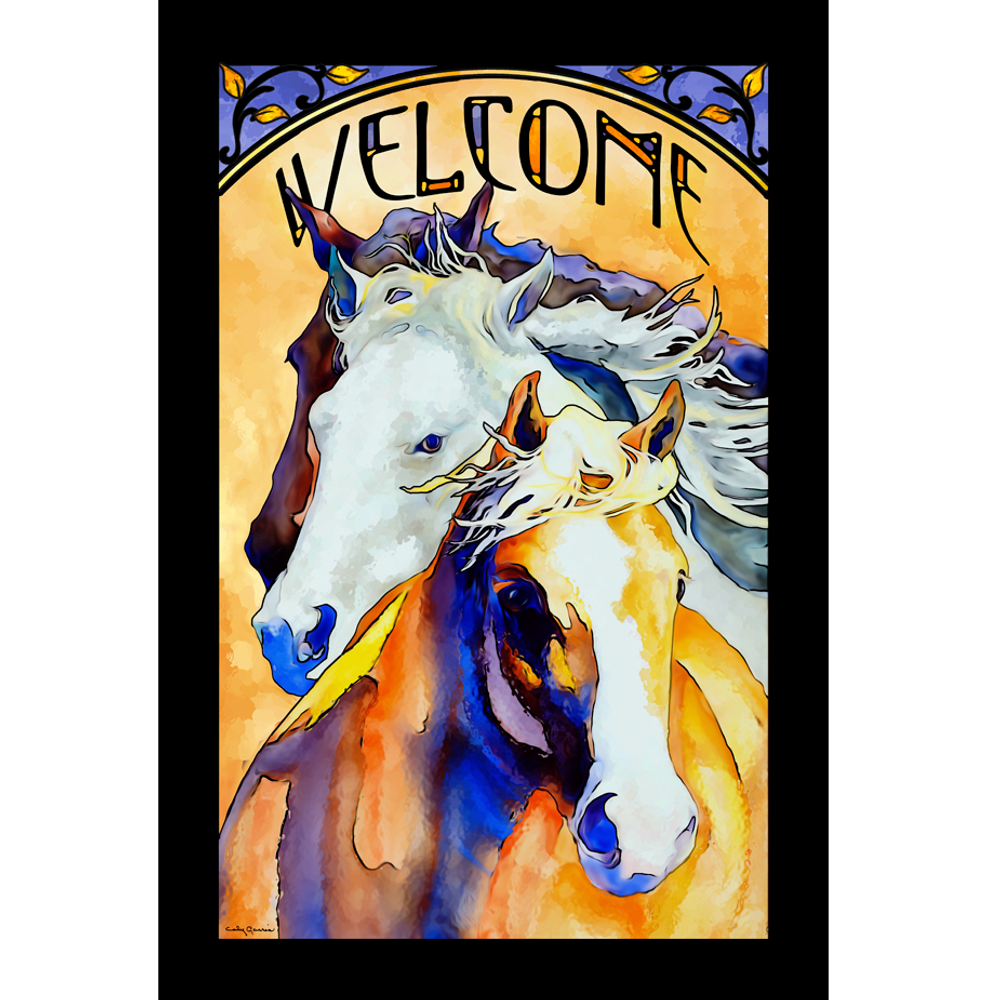 """Horse Stained Glass Art """"Follow Me""""   5386498002"""