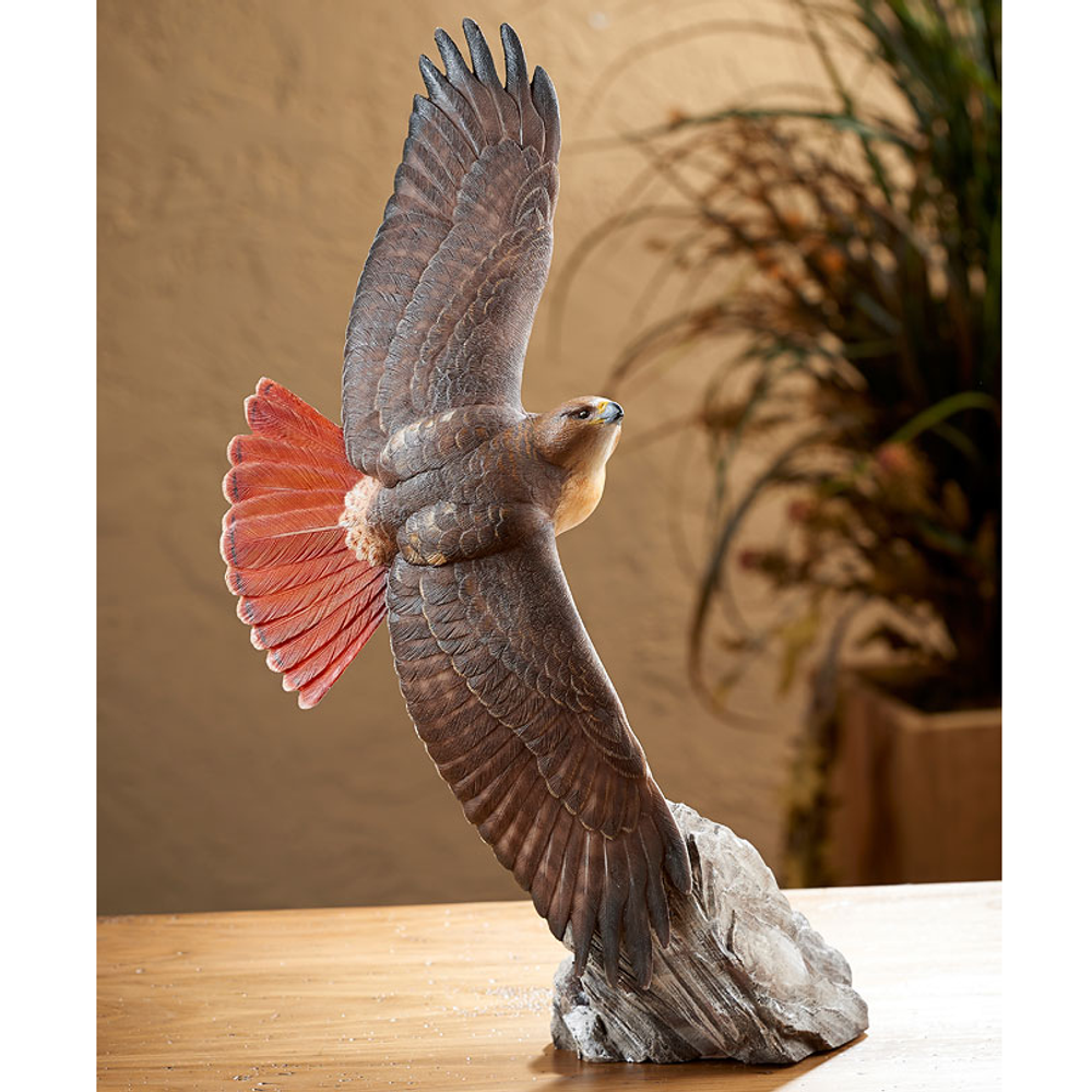 Soaring Red-tailed Hawk Sculpture | 6209512632