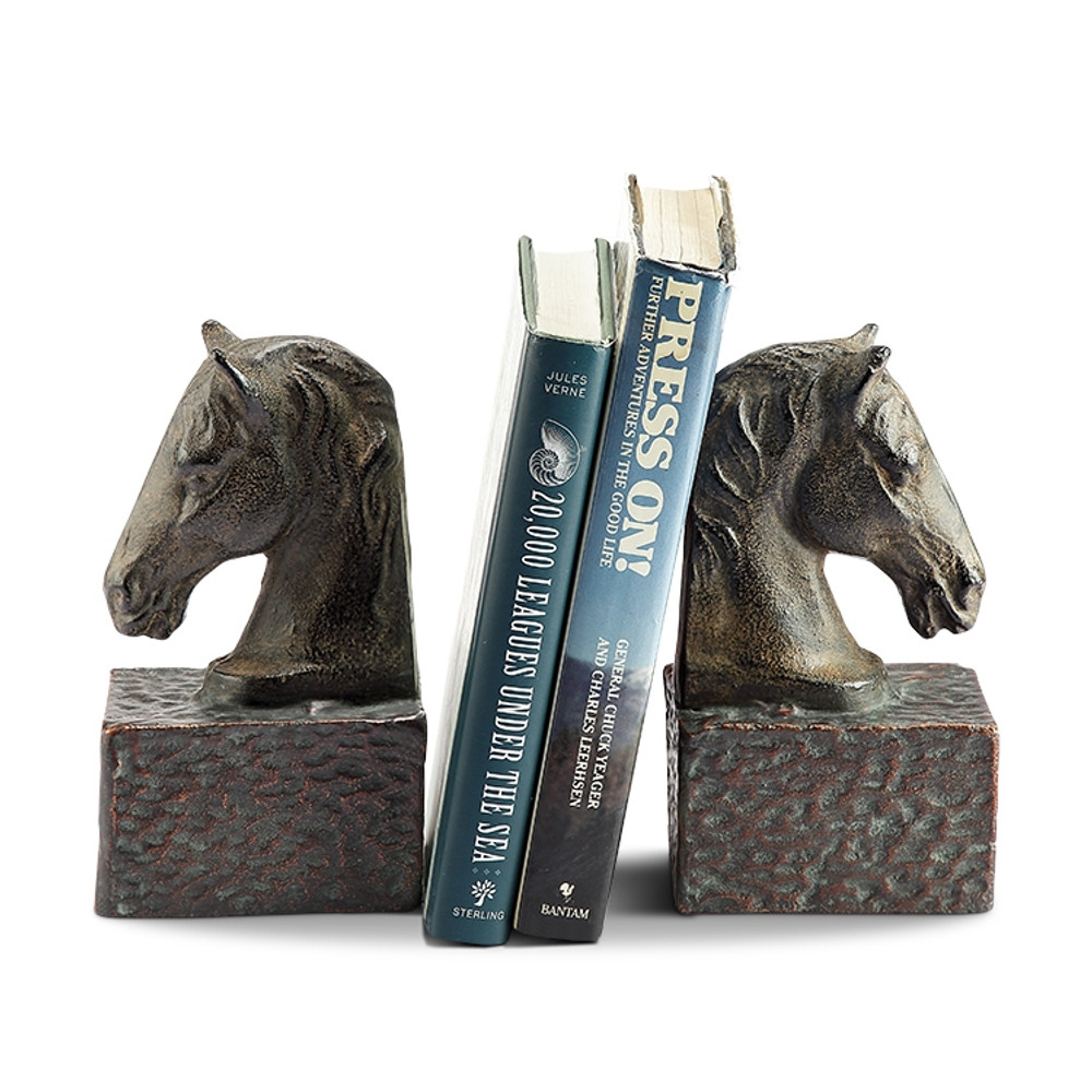 Horse Head Bookends on Base Pair | 51079 | SPI Home