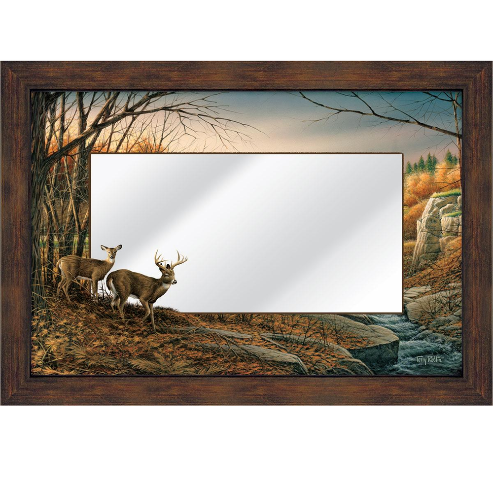 "Deer Decorative Mirror ""Indian Summer"" 
