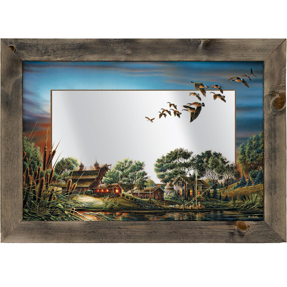 """Geese Decorative Mirror """"Lazy Afternoon"""" 