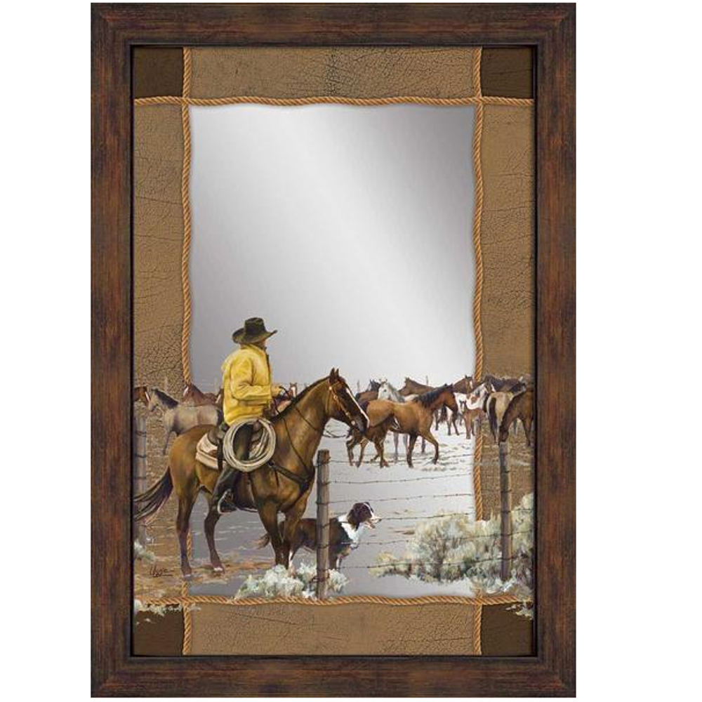 "Horse Decorative Mirror ""Spring Roundup"" 