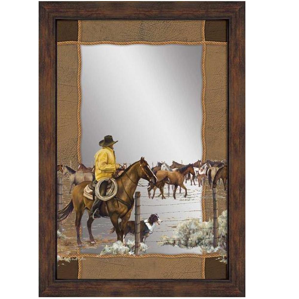 "Horse Decorative Mirror ""Spring Roundup"" | 5386493032"