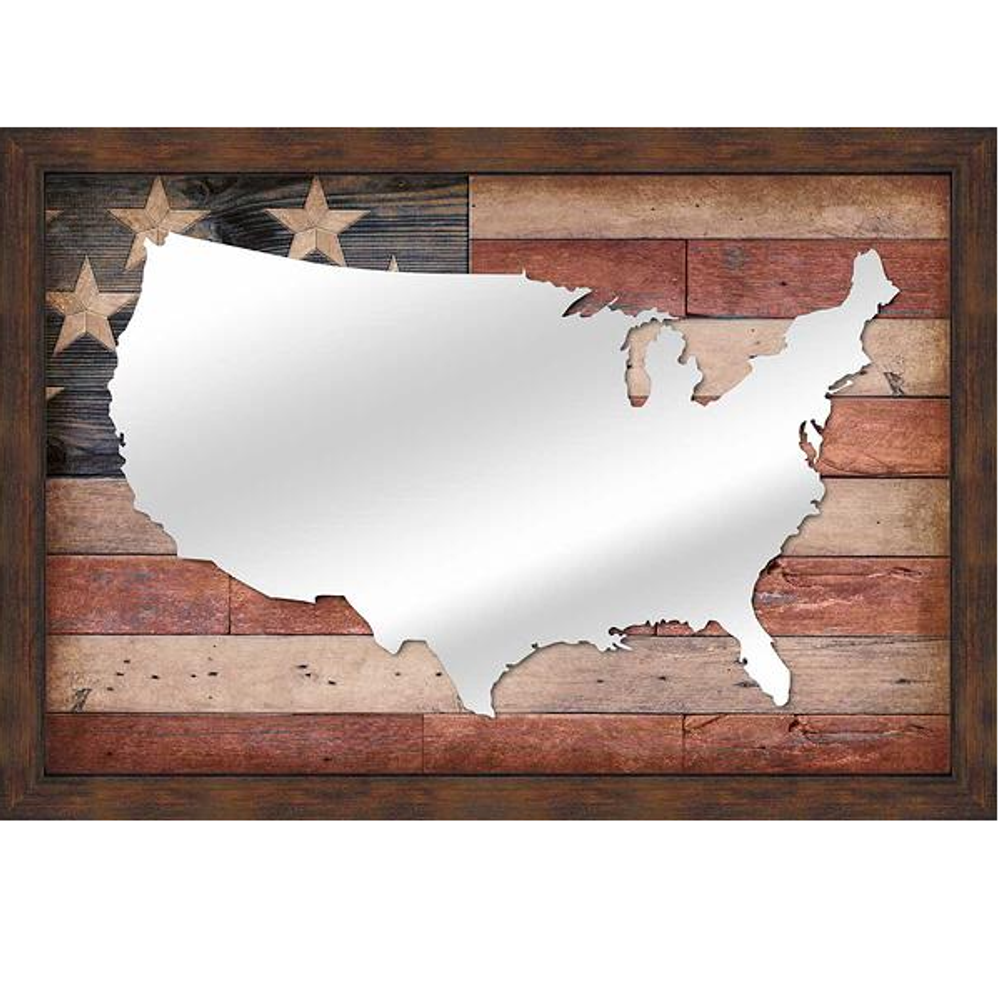 USA Flag Decorative Mirror | 53864936USA