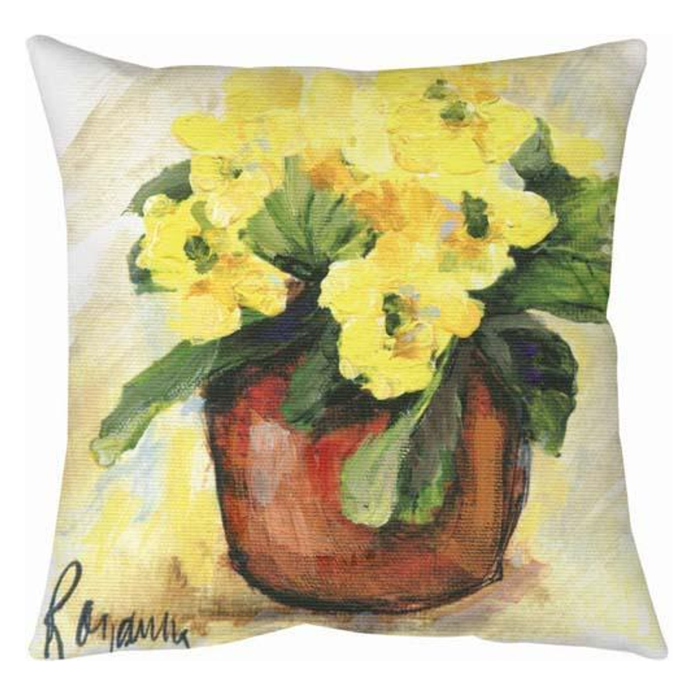 Primrose Red And Yellow Indoor Outdoor Throw Pillow Manual Woodworkers