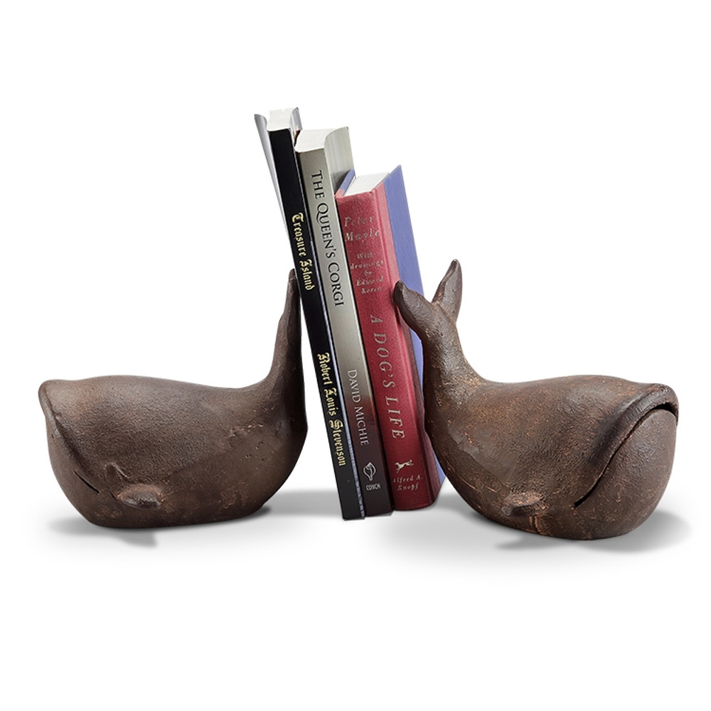 Whale Sculptural Bookends Pair   64011  SPI Home