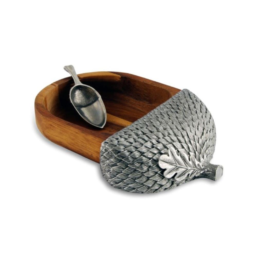 Wood Acorn Nut Bowl | Vagabond House | L218AS