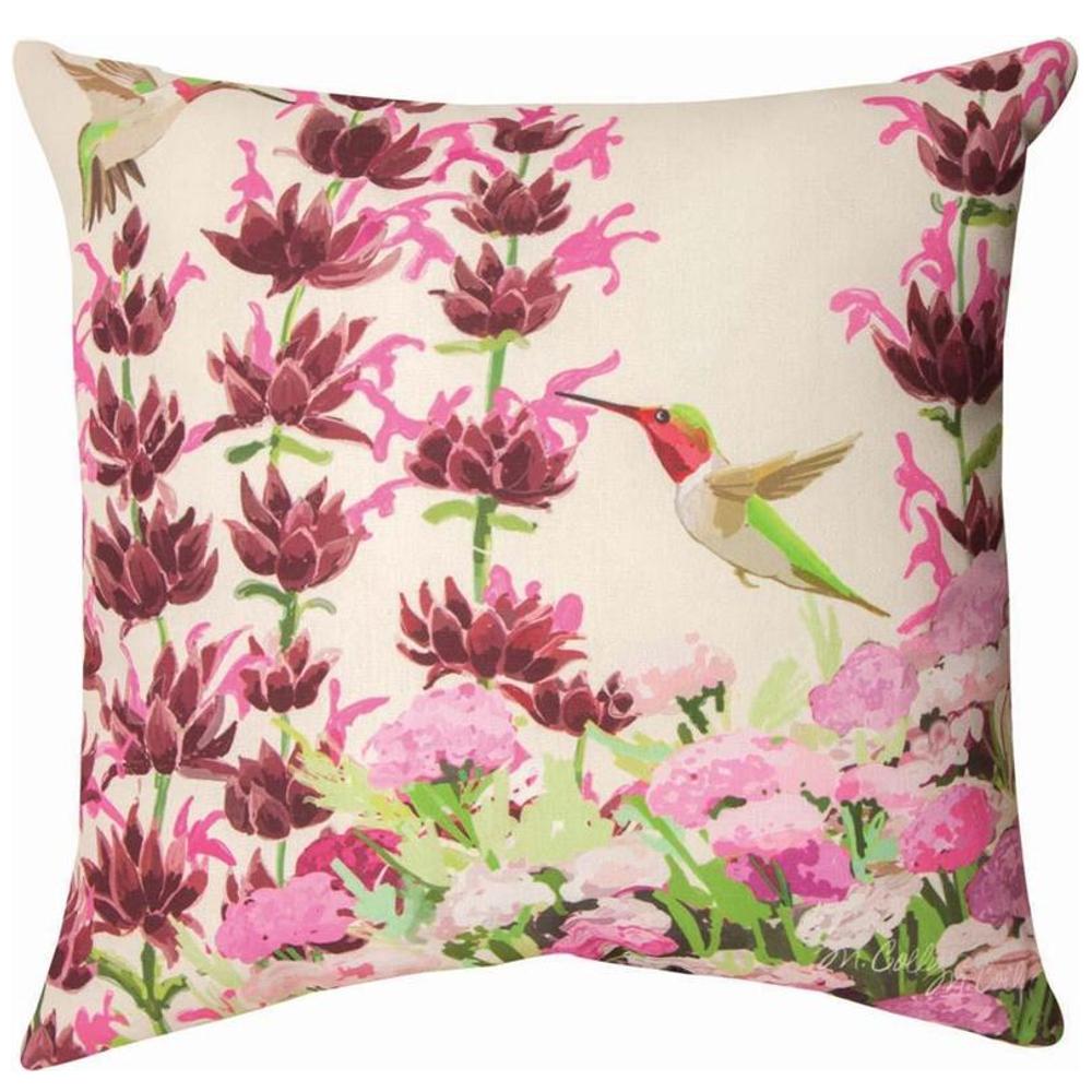 Hummingbird Indoor Outdoor Throw Pillow | SLCNHB