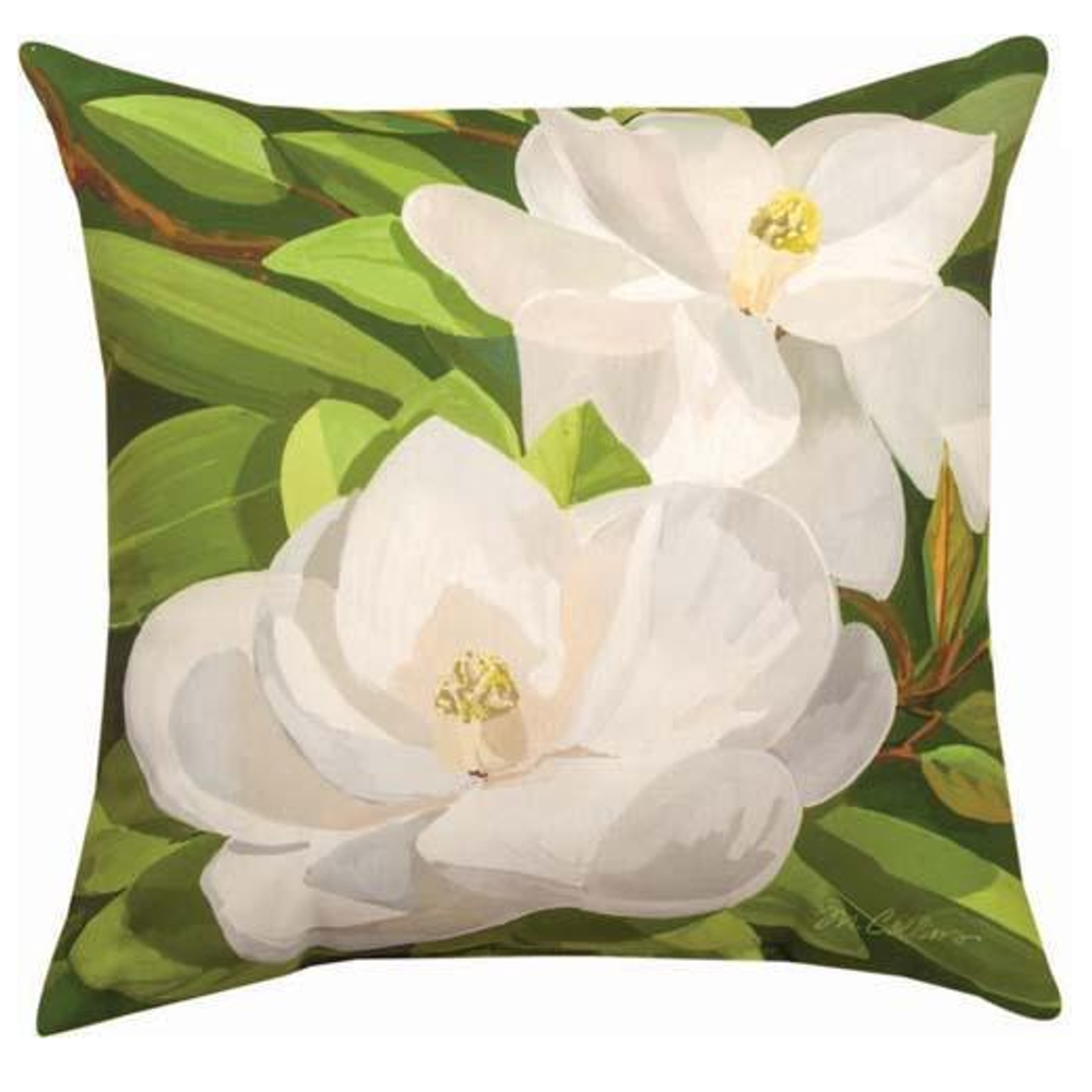 Magnolia Indoor Outdoor Throw Pillow | SLSGMG