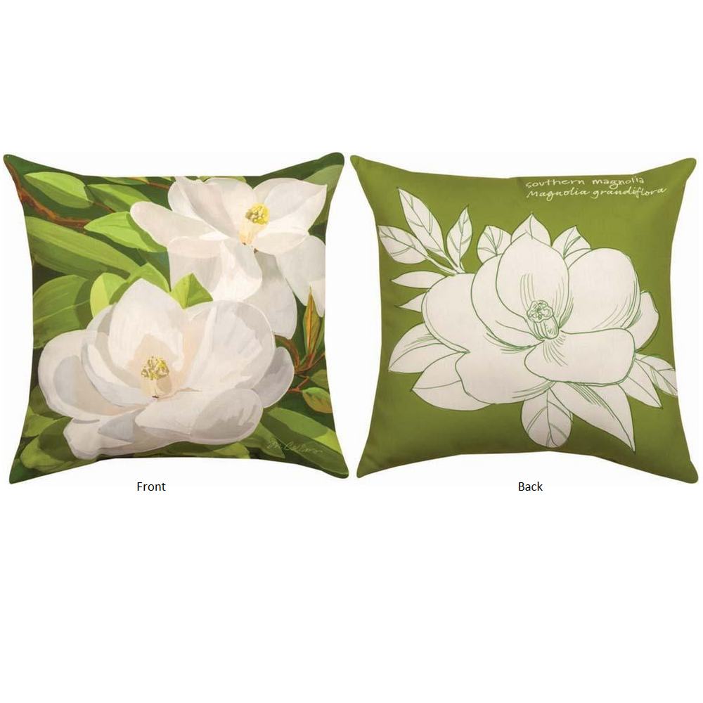 Magnolia Indoor Outdoor Throw Pillow | SLSGMG -3