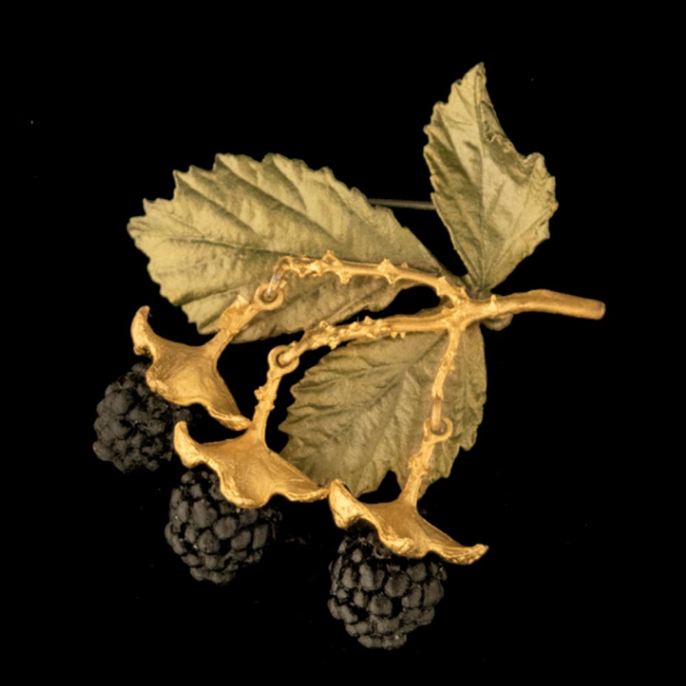 Blackberry Pin | Nature Earrings | Michael Michaud | 5980BZ