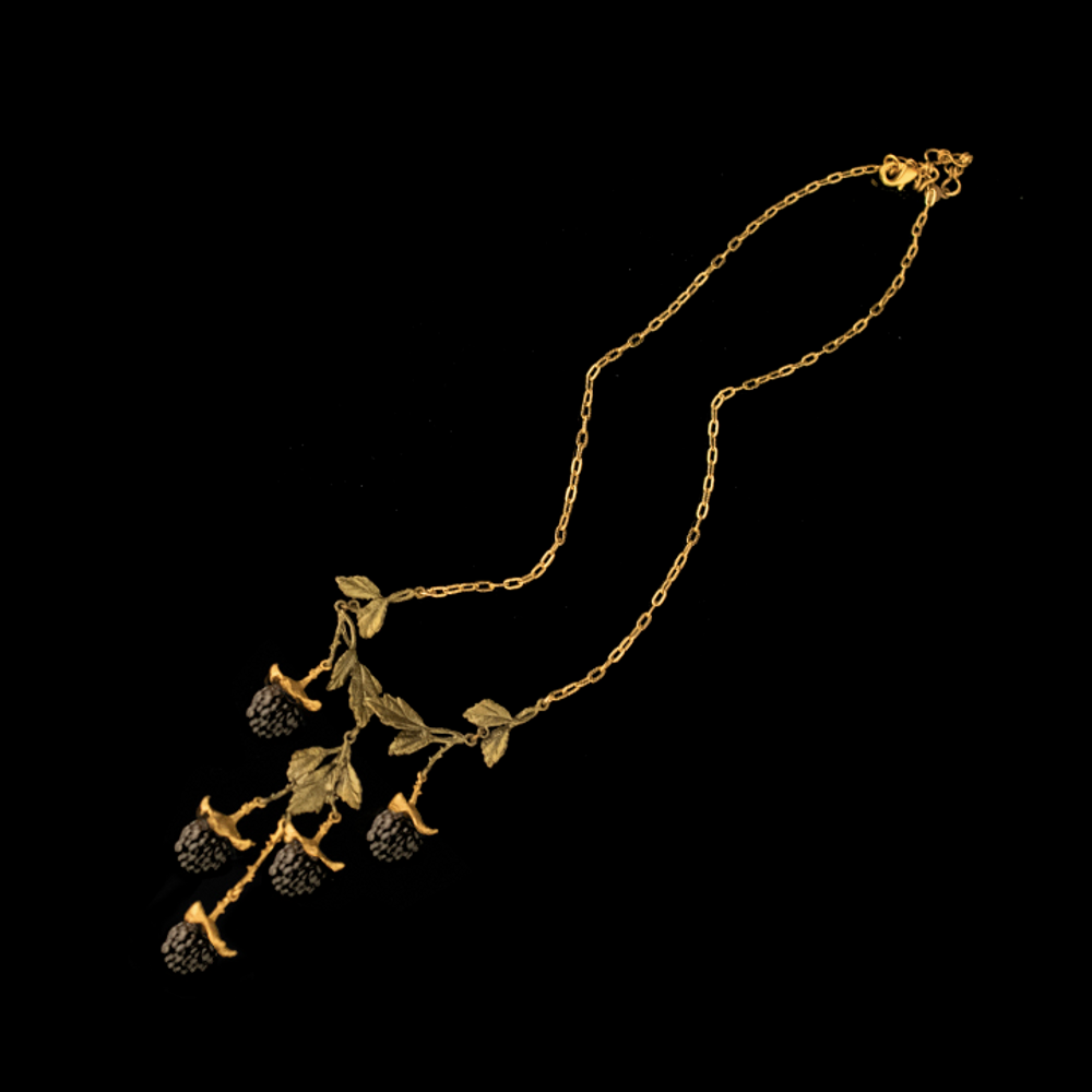 "Blackberry 16"" Adjustable 5-Drop Necklace   Nature Jewelry   Michael Michaud   9225BZ"