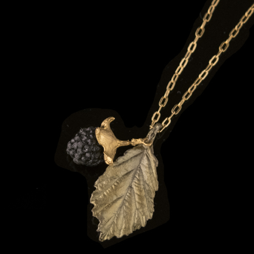 Blackberry Leaf Pendant Necklace | Michael Michaud | Nature Jewelry | 9234BZ