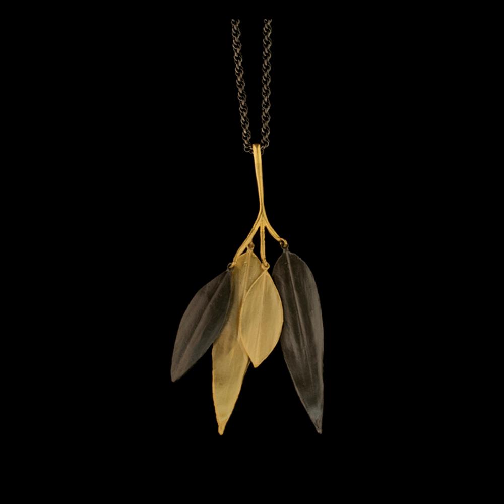 "Cordyline 18"" Adjustable Branch Pendant Necklace | Nature Jewelry | Michael Michaud | 9232BZ"