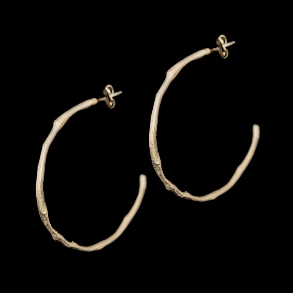 Drift Away Sterling Hoop Post Earrings | Nature Jewelry | Michael Michaud | 3333S