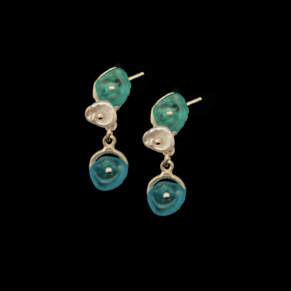 Drift Away Pebble Sterling Post Earrings | Nature Jewelry | Michael Michaud | 3332S
