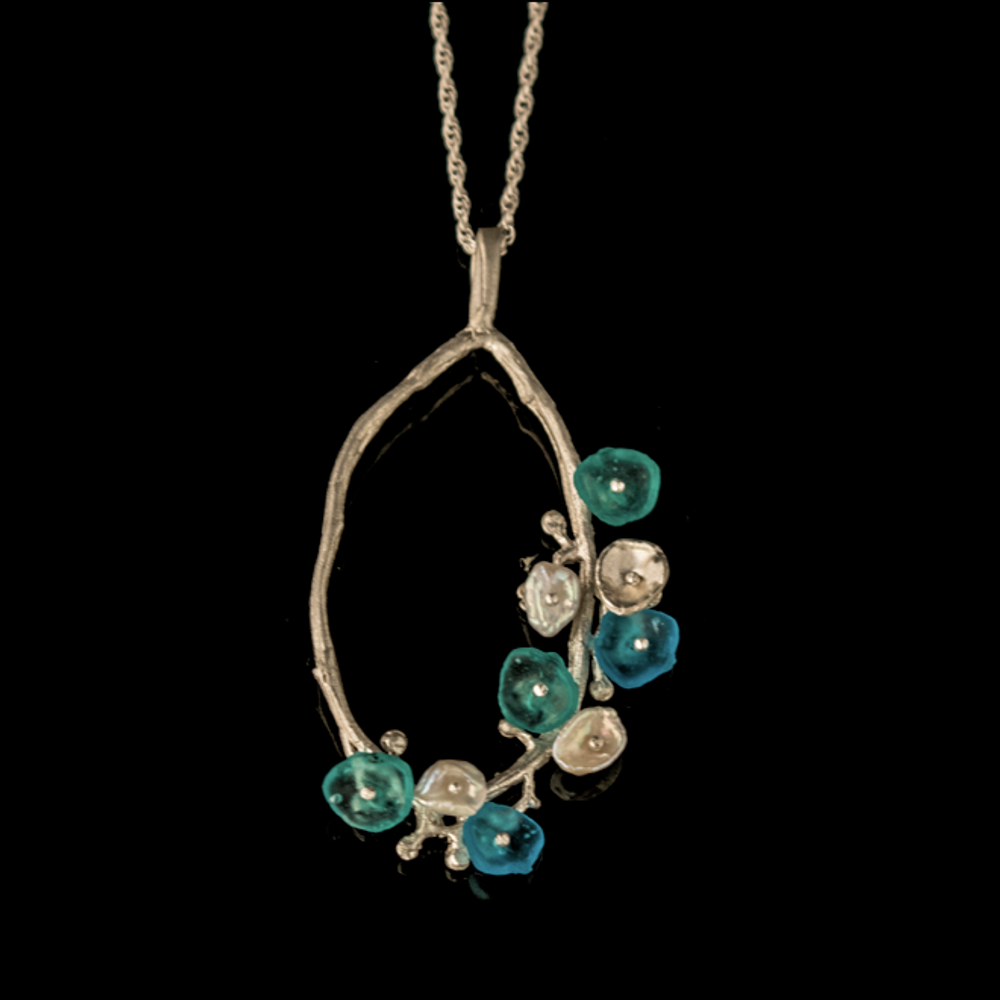 Drift Away Sterling Oval Pendant Necklace | Nature Jewelry | Michael Michaud | 9246S