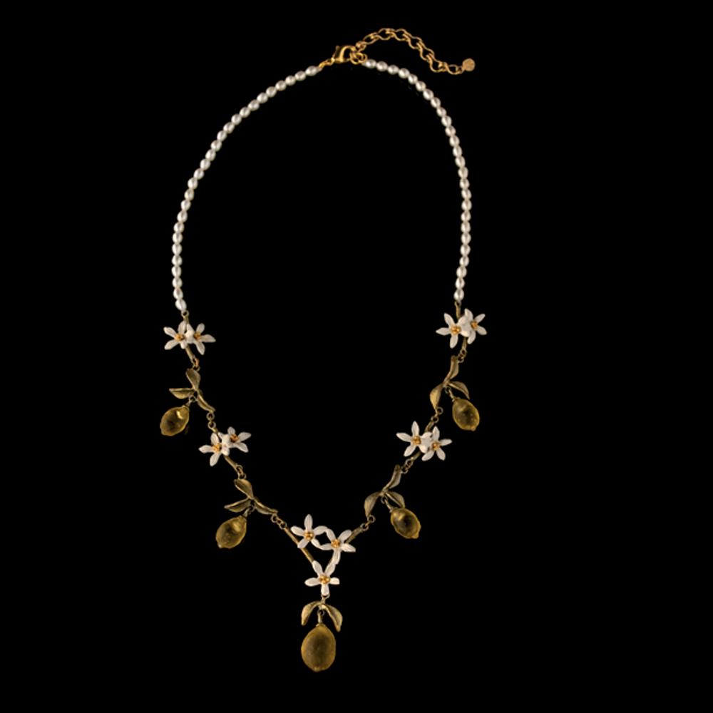 Lemon Drop Statement Pearl Necklace | Nature Jewelry | Michael Michaud | 9223BZ