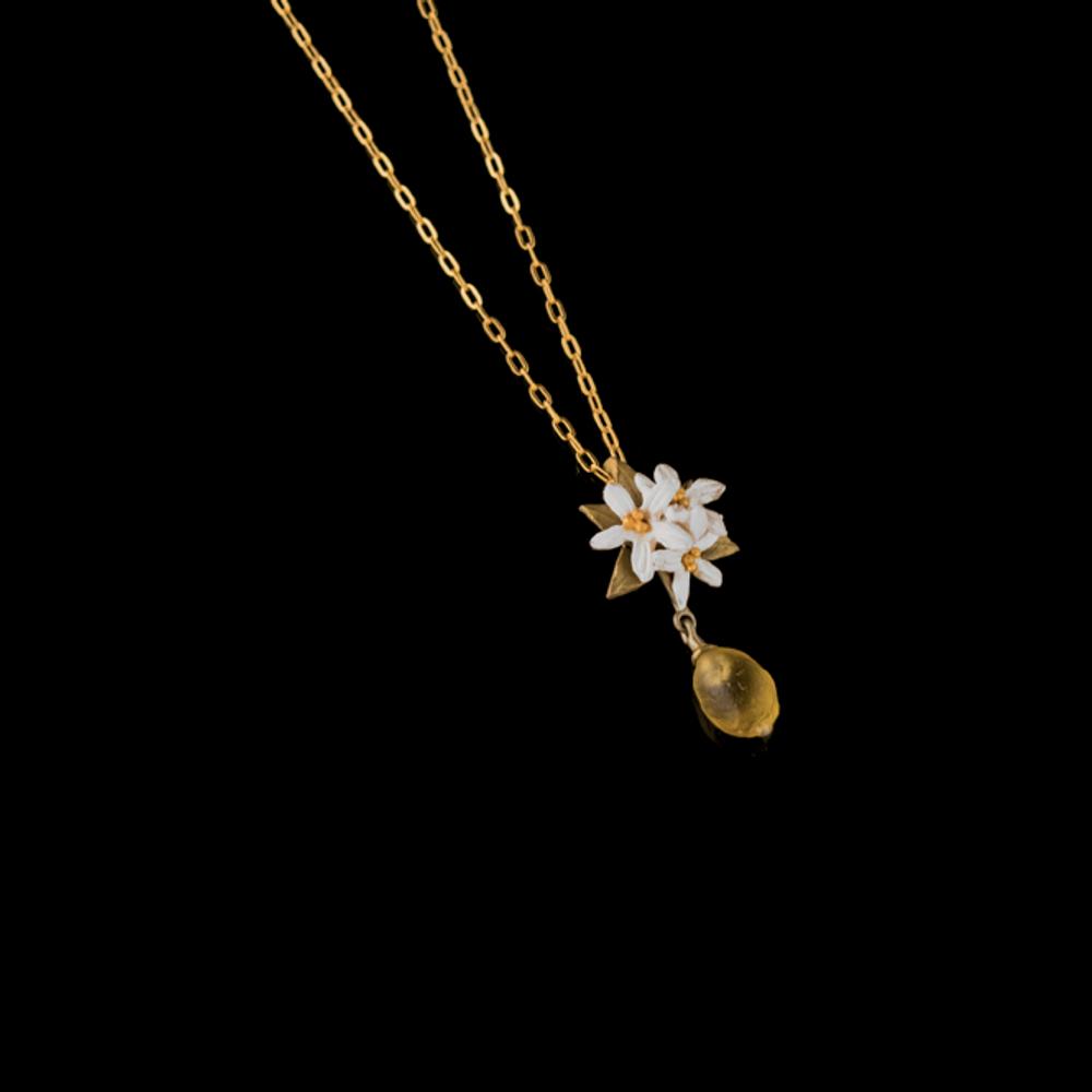Lemon Drop Flower Pendant Necklace   Nature Jewelry   Michael Michaud   9222BZ