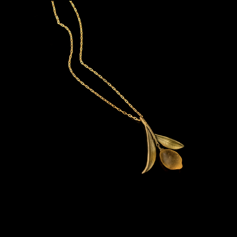 Lemon Drop Leaf Pendant Necklace | Nature Jewelry | Michael Michaud | 9221BZ