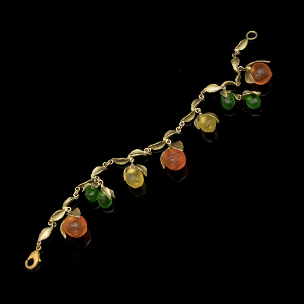 Citrus Fruit Charm Bracelet | Nature Jewelry | Michael Michaud | 7287BZ