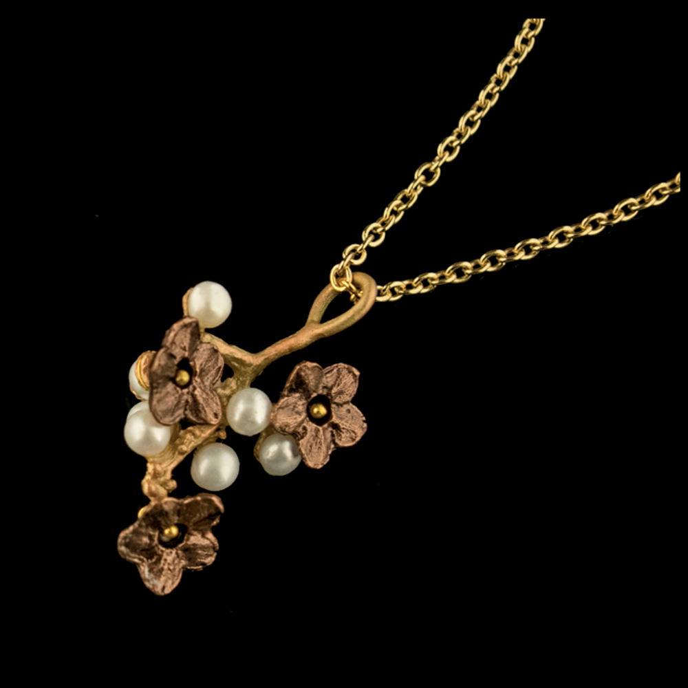 Ume Blossom Dainty Pendant Necklace | Nature Jewelry | Michael Michaud | 9251BZ