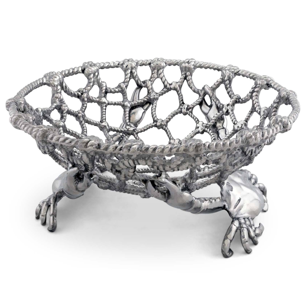 Crab and Net Fruit Basket | Arthur Court Designs | 123C12
