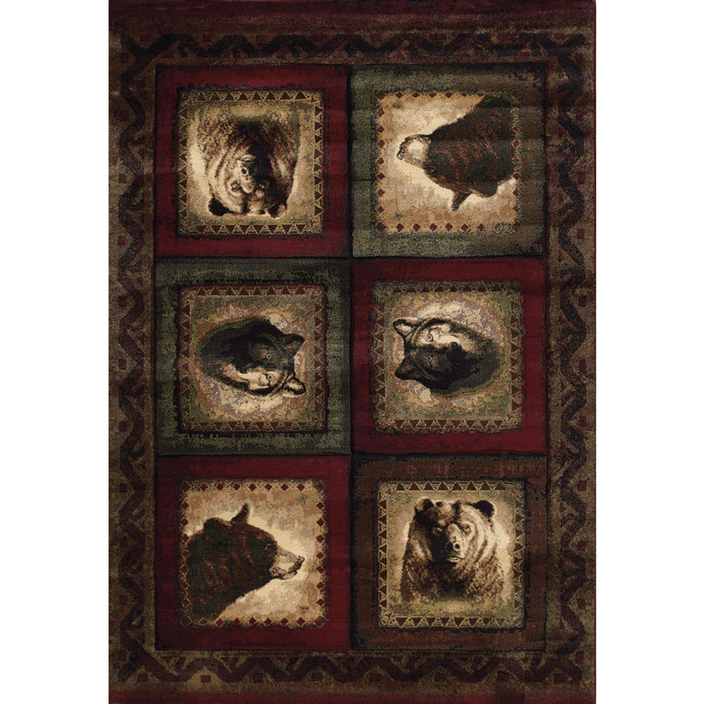 Bear and Wolf Area Rug | United Weavers | 512-27234