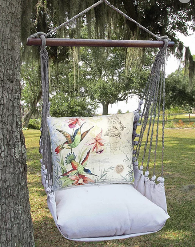 Hummingbirds Hammock Chair Swing Latte | Magnolia Casual | LTSW901-SP