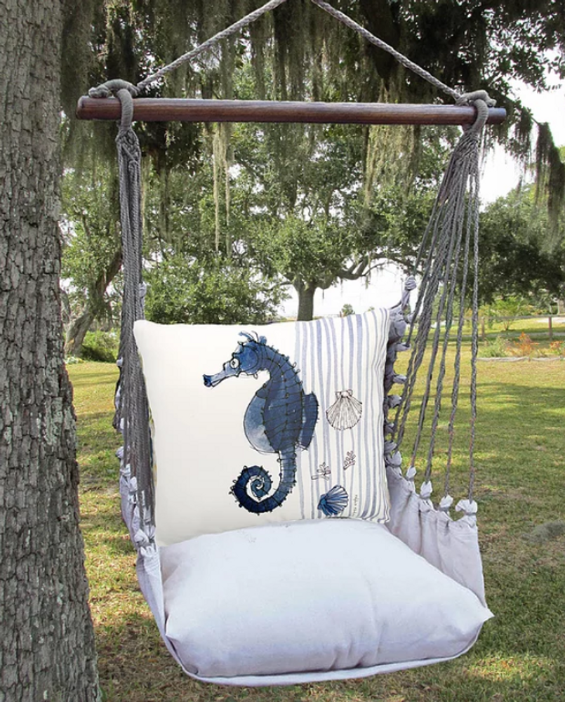 "Seahorse Hammock Chair Swing ""Latte"" 