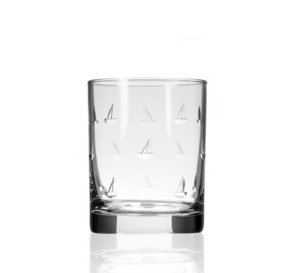 Sailing Double Old Fashioned Glass Set of 4 | Rolf Glass | 522005