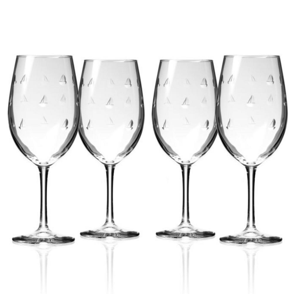 Sailing 18 oz Wine Glass Set of 4 | Rolf Glass | 522265