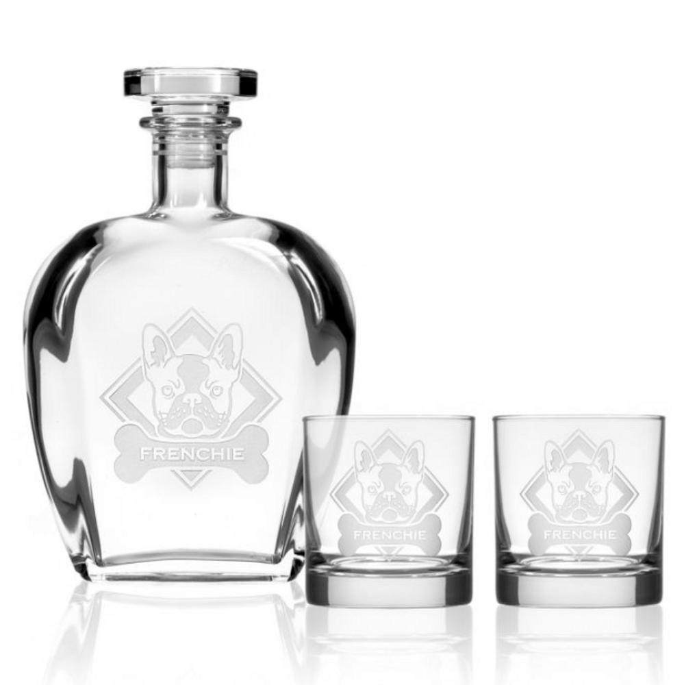 French Bulldog Whiskey Decanter Gift Set | Rolf Glass | 364902