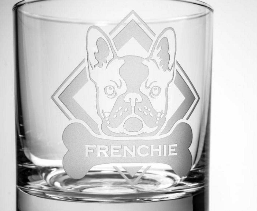 French Bulldog Rocks Glass Set of 4 | Rolf Glass | 364681
