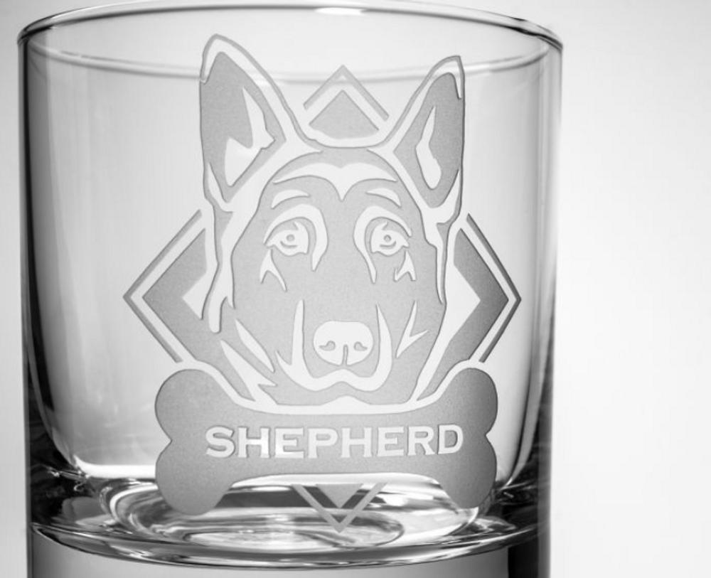 German Shepherd Whiskey Decanter Gift Set | Rolf Glass | 363905