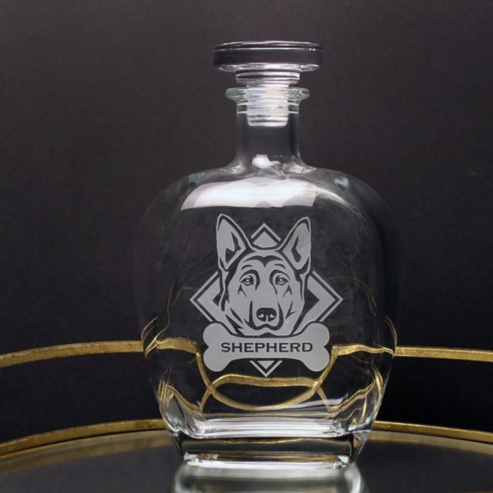 German Shepherd Glass Decanter   Rolf Glass   363806