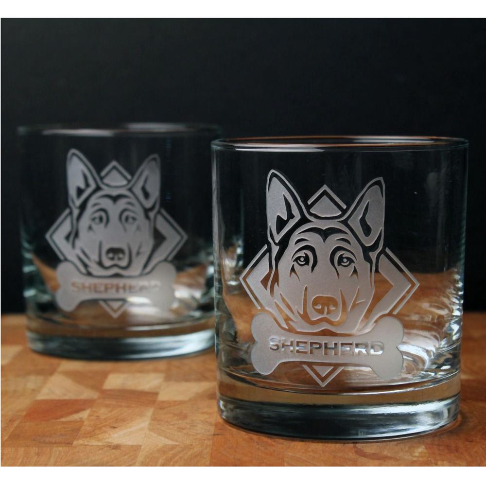 German Shepherd Rocks Glass Set of 4 | Rolf Glass | 363684
