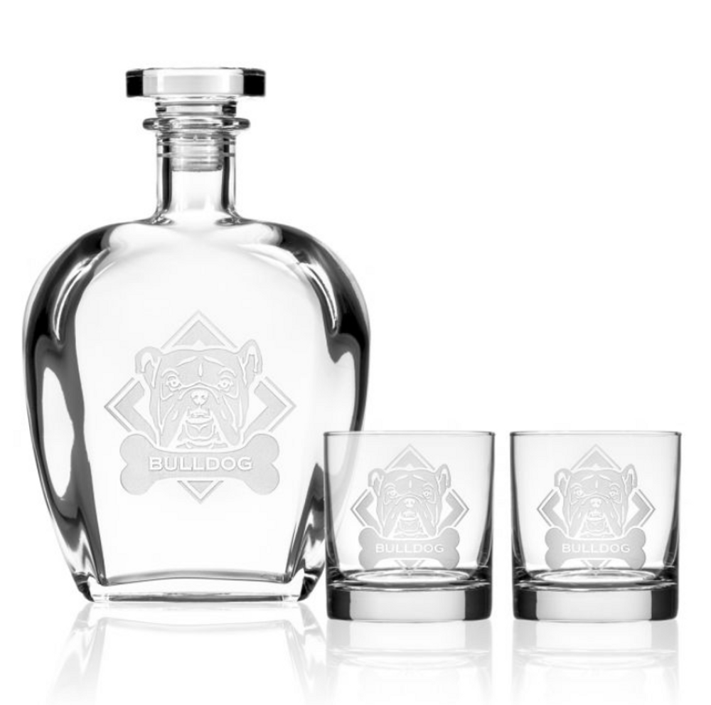 American Bulldog Whiskey Decanter Gift Set | Rolf Glass | 362908