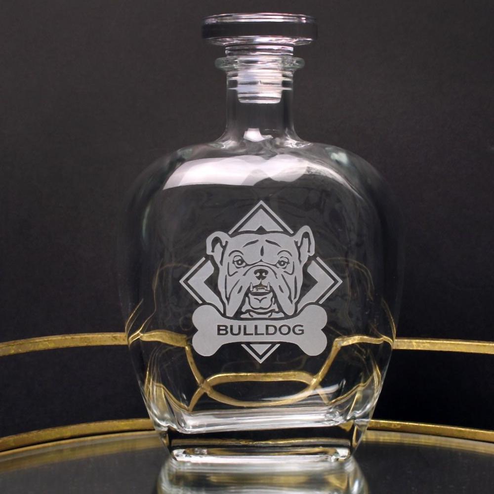 American Bulldog Glass Decanter   Rolf Glass   362809