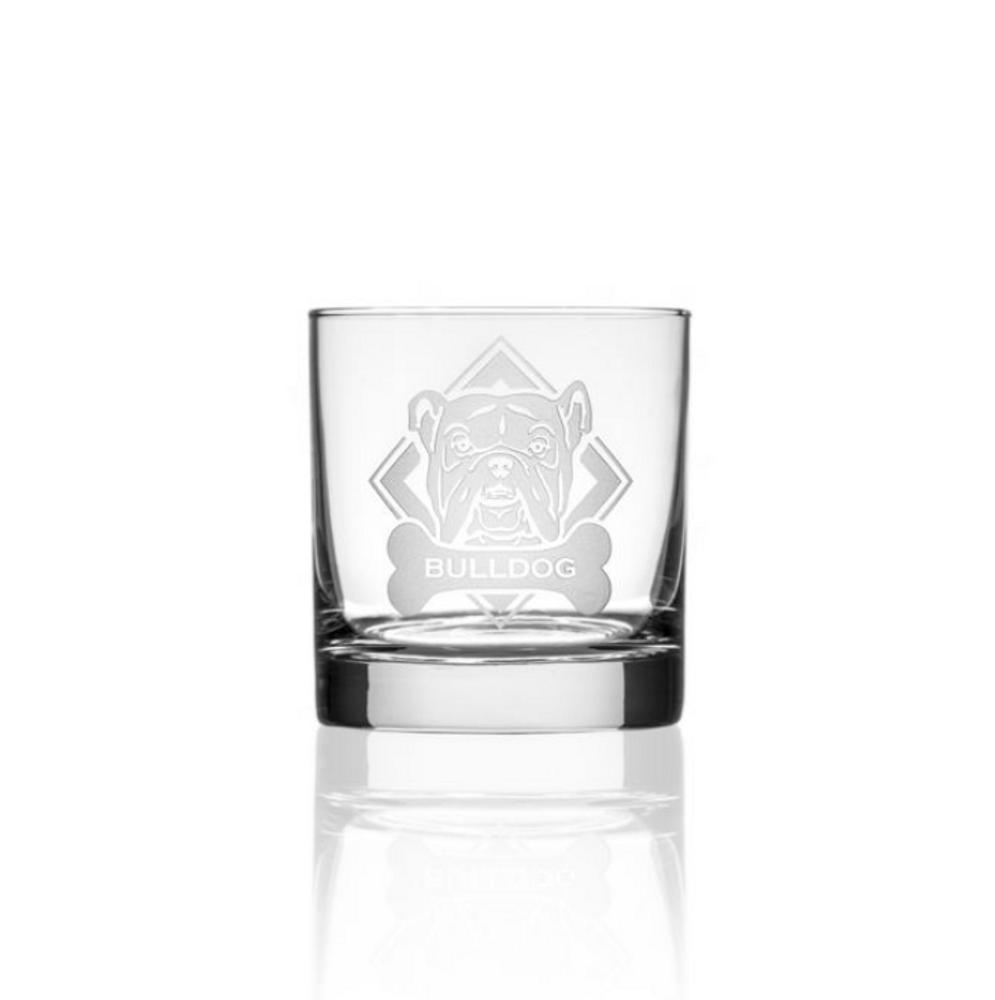American Bulldog Rocks Glass Set of 4 | Rolf Glass | 362687