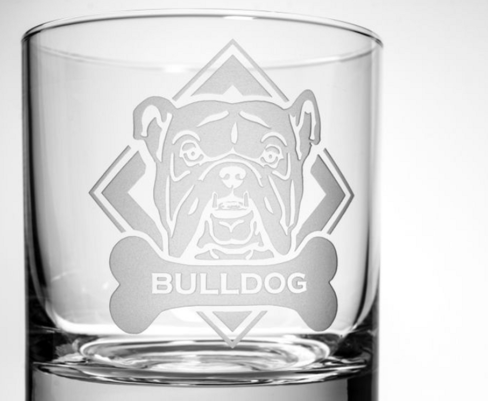 American Bulldog Rocks Glass Set of 4 | Rolf Glass | 362687