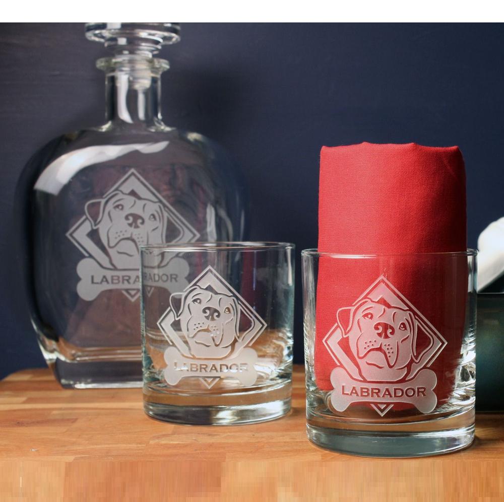 Labrador Whiskey Decanter Gift Set   Rolf Glass   360904
