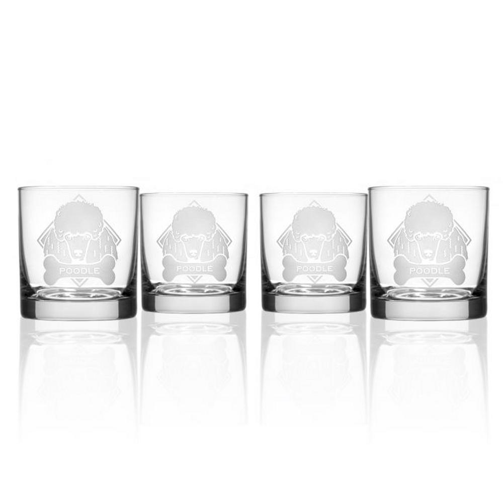 Poodle Rocks Glass Set of 4 | Rolf Glass | 361680