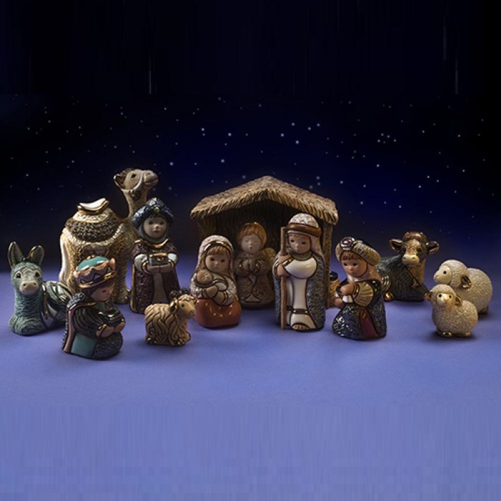 Ceramic Nativity Figurine 13 Piece Set | De Rosa| nativity13pc