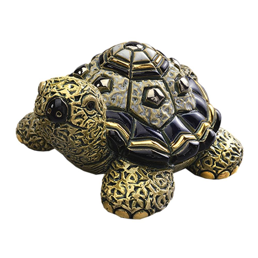 Green Turtle Family Ceramic Figurine Set of 2 | De Rosa | F179-F379 -2