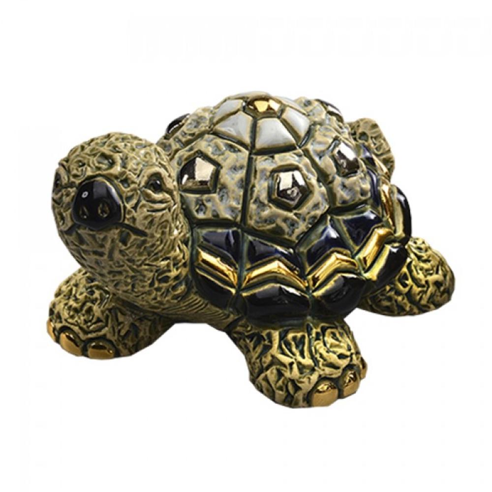 Green Turtle Family Ceramic Figurine Set of 2 | De Rosa | F179-F379 -3