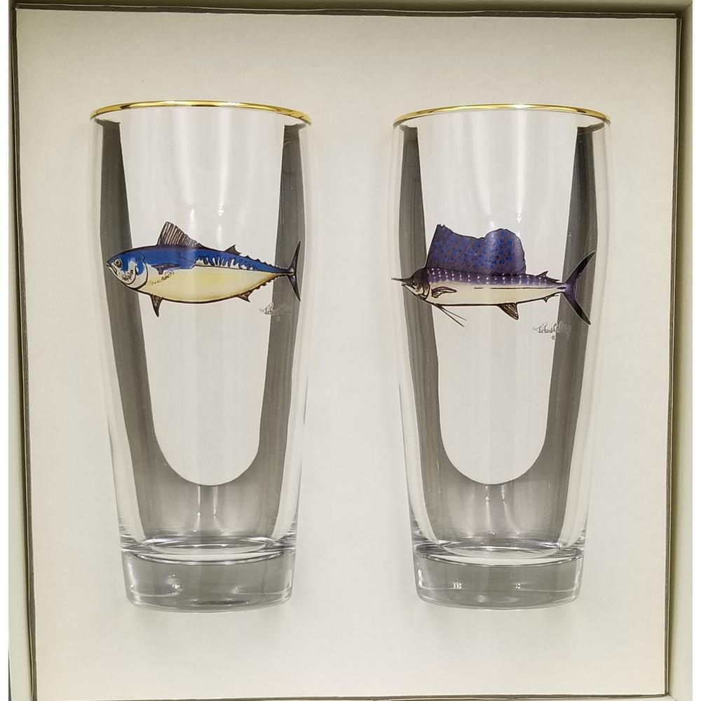 Game Fish Beer Glass Set   Richard Bishop   2043GF